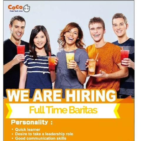 Full Time Barista & Supervisor Needed